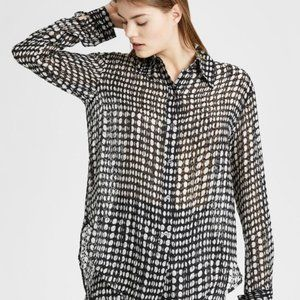 Theory Weekender Broken Oval Blouse size S